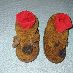 Baby Moose Slippers size 6-9 months